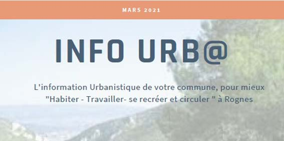INFO URB@  - MARS 2021