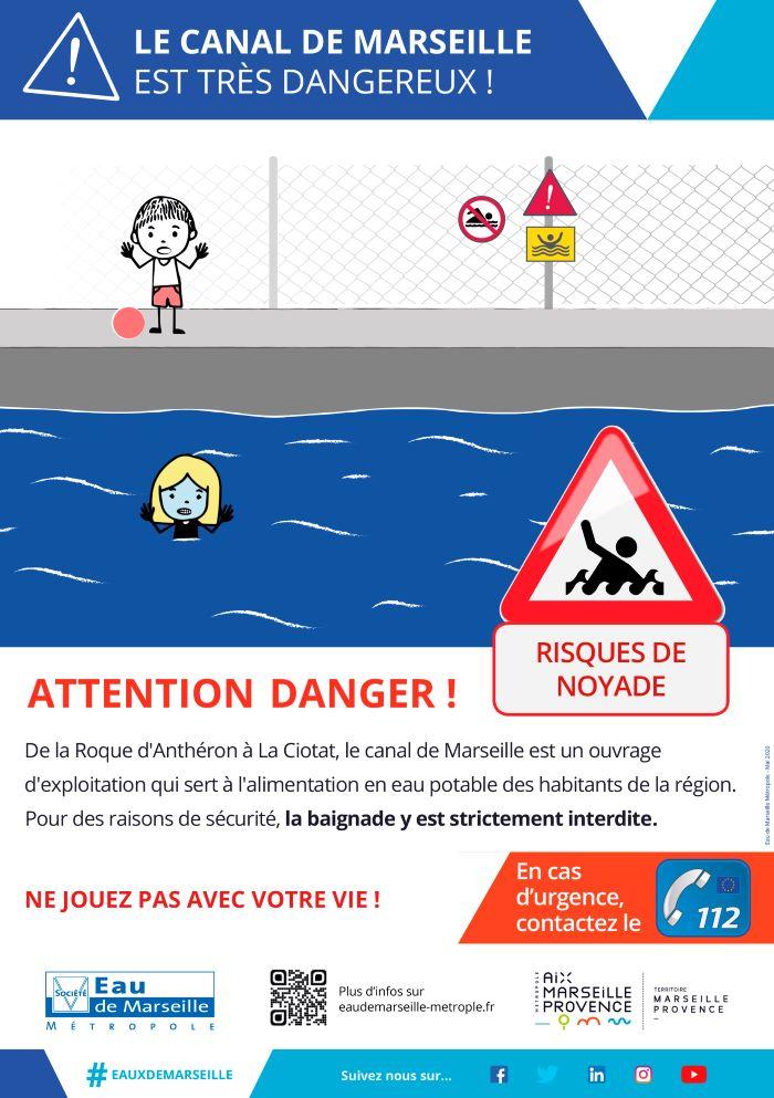 Prévention des risques de noyade dans le Canal de Marseille